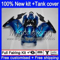+ Бак для KAWASAKI ZX-250R EX-250 ZX250R 08 09 10 11 12 201MY.0 EX250 ZX 250R EX 250 EX250R 2008 2009 2010 2011 2012 обтекатели глянцевый синий