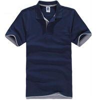 Mens Sommer Shirts Casual Baumwolle Einfarbig Polos Atmungs Kurzarm T SHIRT Business Männlichen Neue Kleidung