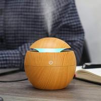 USB Aroma difusor ultrasónico humidificador de vapor frío purificador de aire 7 cambiar el color del LED para la luz de la noche Ministerio del Interior