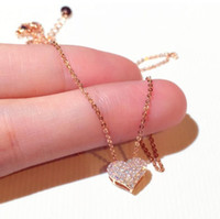 Choucong Brand New Yorks By Jewelry 925 sterling Silver Pavy CZ Crystal Diamond Pendente cuore Nuove Donne Nelle donne Chavicella Catena Collana Regalo