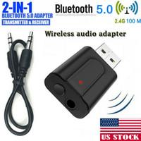 3.5mm USB Wireless Bluetooth 5.0 Musik Audio Stereo-Empfänger-Adapter Dongle für TV PC Laptop