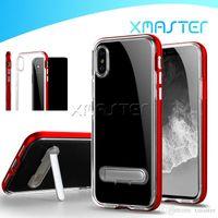 Для iPhone 11 Pro XS MAX XR X 8 Kickstand Case Hybrid Clear ТПУ Назад PC Каркасные Покрытие бампера SGP телефон дела xmaster