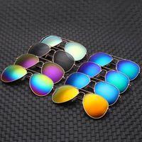 الطيار الكلاسيكي رجل النساء النظارات الشمسية مصمم الأزياء النظارات الرجعية العلامة التجارية المعدنية إطار نظارات الجملة 19 اللون لا logo a1