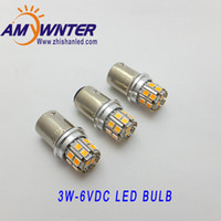 AMYWNTER P21W Ba15s 6V 3W llevó la lámpara del coche-styling luces del coche bombilla del faro amarillo AMYWNTER freno blanco