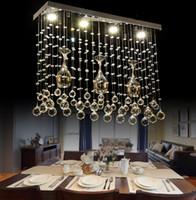 Envío libre creativo rectangular Vino Cristal Led iluminación de la lámpara de Comedor Dormitorio Barra LLFA