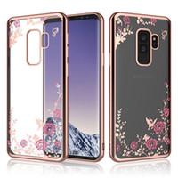 Meilleur étui à fleurs pour Samsung Galaxy Note 9 8 S9 S8 S10 Plus A6 A8 A9 + Plus J4 J6 J8 J3 2018 J5 J7 Prime S6 S7 Couverture de TPU de placage de bord