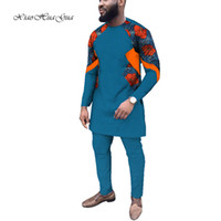 New Causal Party Mens African Clothing Dashiki Long Sleeve S...