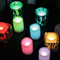 Flameless LED tea candle light remote control battery operat...