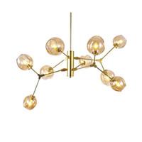 Arte moderna Decoração DNA Lustre Parafuso de Luz E27 5 W led luminária de Vidro abajur ouro preto corpo droplight