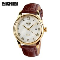 SKMEI Business Mens Watches Luxury Leather Strap Watch Men 3...