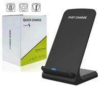 2 Cewki 10W Ładowarka bezprzewodowa Fast Qi Wireless Ładowanie Podkładka dla iPhone 11 Pro Max XS Samsung Note 10 S10 S9 Wszystkie smartfony z obsługą Qi