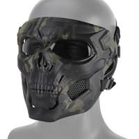 Taktische gruselige Vollgesichtsmaske-Skull Messenger Maske für Jagd Airsoft CS Halloween Festival Party Movie Requisiten