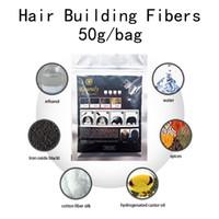 50 g de fibra para el cabello Polvo de recarga Negro Dark Brown Color Color Hair Fiber Material Pérdida de cabello Cubierta Cubierta Cubierta Cubierta de adelgazamiento