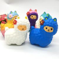 Kawaii lindo suave blando squishi 16cm de Navidad de alpaca crema perfumada blando lento aumento de los niños del apretón de la descompresión juguetes encanto del teléfono