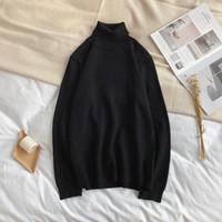 YASUGUOJI Nuevo 2019 Otoño e Invierno Jersey de cuello alto Hombres Moda Cuello de tortuga Suéter para hombre Suéter delgado Hombres de punto
