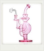분홍색 기억 만 보라색 유리 봉 비커 오일은 소량 계란 리사이클 소시지 인라인 퍼크 물 파이프 릭