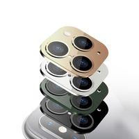 كاميرا معدن جديد عدسة تغيير الثانية للحصول على برو 11 ماكس زجاج حامي الدائري لتغطية اي فون X XS MAX ملصق همية كاميرا