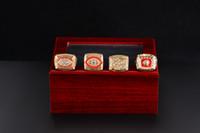 Haute Qualité 4PCS 1972 1982 1987 1991 Bague de championnat de football de Washington Ensemble de fans Ring Ring US Taille 11 #