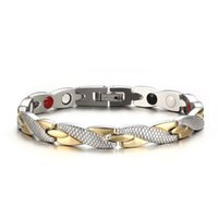 Ritorto sano braccialetto magnetico per i monili Power terapia Donne Magneti magnetite BRACCIALE Men Health Care Acciaio