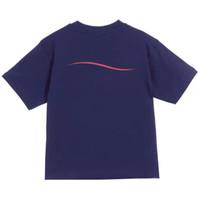 패션 키즈 폴로 티셔츠 어린이 짧은 소매 물결 모양의 줄무늬 아기 티셔츠 소년 탑스 의류 편지 인쇄 티셔츠 소녀 면화 셔츠
