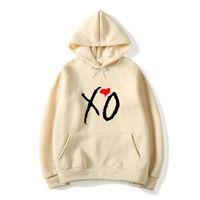 Le Weeknd Imprimé Solide Couleur Hoodies XO Lettre Fashion Imprimer Sweat à capuche Homme Femme Harajuku Hip Hop Pull à capuche Hauts