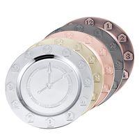 Piatti 30 centimetri orologio in acciaio inossidabile Metallo Numero Placchi vassoio intaglio frutta Disco Retro Semplicità 10 73hf UU