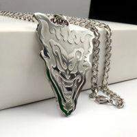 Nouvelle argent liste -Tone acier inoxydable Mens ICP V mot vendetta collier pendentif 5 mm bijoux 24 pouces Cadeaux cool