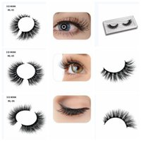 3D Mink False Eyelashes Natural Long Thick Fake Eyelashes Ex...