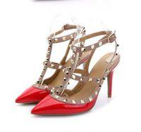 Nuovo 2019 sandali di estate delle donne, Rivetti, tacchi alti, sandali di modo delle donne, europee e Americane con high6 8 10 centimetri