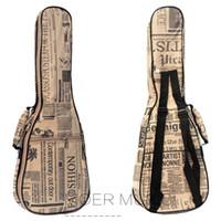 21 23 26inch укулеле сумка Сопрано Тенор Concert UKU Холст Case Рюкзак Портативный мини 4strings гитары Gig Bag Case