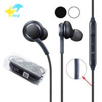 Vitog for Samsung Galaxy S4 S7 S8 S8 سماعات أذن 3.5 ملم سماعات أذن في الأذن مع التحكم في حجم الميكروفون