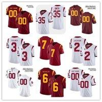 2019 NCAA USC Trojans Homens s camisas de futebol JuJu Smith-Schuster Adoree Jackson Leonard Williams Sam Darnold Personalizado Vermelho Branco 4XL