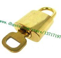 Piezas de la bolsa de grado superior One Set Lock Key Tono de oro de latón para Speeedy Allma Keapall Maleta de equipaje Rolling Duffle Duffle Candlock