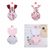 4STYLES new summer infant fly sleeved rompers baby cotton DO...