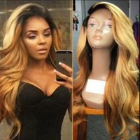 Celebrity Wig Lace Front Wig Loose Wave Ombre Color 10A Grad...