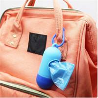 플라스틱 기저귀 가방 상자 휴대용 일회용 아기 애완 동물 쓰레기 봉투 이동식 상자 엄마와 베이비 케어 도구에 대 한 패션 기저귀 가방 10pcs /