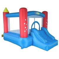 China Factory Cheap Nylon Inflatable Jump Castle Bounce House Inflatable Trampoline Toys Dual Slide with Blowers
