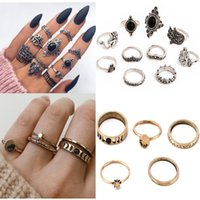 14 styles Womens Gem Joint Ring Cluster Rings Wedding Party ...