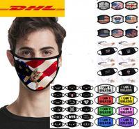 Hızlı DHL Tasarımcı Anti Toz Yüz Maskesi I Can Bisiklet Bayrak Yıkanabilir Tekrar Kullanılabilir Bez maskeler değil Nefes Hayatlar Siyah Matter Trump Pamuk