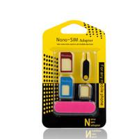 5 بطاقات SIM in1 ومحول بطاقات معدن الالمنيوم نانو سيم مايكرو بطاقات القياسية لالهاتف الخليوي التبعي الهاتف المحمول لسامس الهاتف