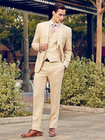 New Gray Wedding Men Suits Groom Tuxedos 3 Pieces (Jacket+ Pa...