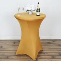 panno della Tabella spandex del cocktail di copertura tavola rotonda Tovaglia Stretch per il banchetto festa di nozze Decorazione della tavola di nozze Abbigliamento Tovaglia