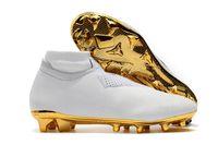 2019 أحذية جديدة Arrivaled الذهب الأبيض بالجملة لكرة القدم المرابط رونالدو CR7 الأصل لكرة القدم فانتوم VSN النخبة DF FG كرة القدم أحذية