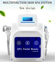 2020 Hydra dermoabrasão Máquina de Limpeza Profunda Ultrasonic Facial Dispositivo Microdermoabrasão microcorrentes Terapia Ultrasonic Skin Care na venda