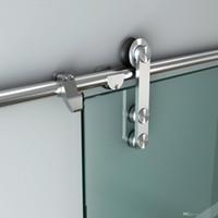 Modernes europäisches Edelstahl-Glasschiebetür-Tür-Hardware-TRACK-Set