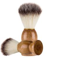 Berber traş traş fırçası doğal ahşap sapı naylon sert saç sakal fırçası erkek en iyi hediye kuaförlük araçları SZ473