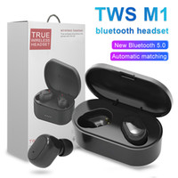 M1 Bluetooth-Ohrhörer Wireless 5.0 stero-ohrhörer intelligentes Geräuschpolsterung tragbarer Kopfhörer für intelligentes Mobiltelefon mit Kleinkasten
