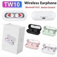 TW10 Bluetooth наушников бинауральные вызова Earbuds Mini Wireless TWS Наушники Кнопка управления Activate Siri Микронаушники с микрофоном Headset