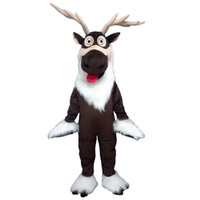 Reindeer long hair quality Mascot Costume Cartoon Character ...