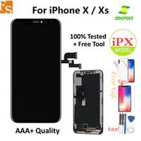 شاشة LCD لجهاز iPhone X XS XR شاشة LCD مع شاشة تعمل باللمس 3D محول الأرقام OLED TFT التجميع الكامل استبدال LCD 100٪ واحد بواسطة واحد اختبار جيد
